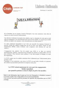 Télédiffusion de France : déclaration de la Liaison Nationale