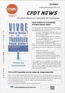 Orange : DO Ouest CFDT News n°16