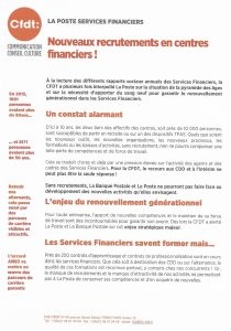 La Poste Services Financiers : de nouveaux recrutements!!!