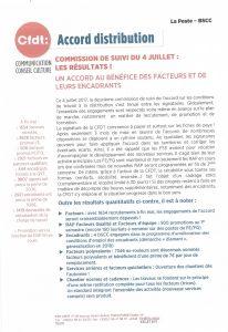 La Poste BSCC : Accord Distribution