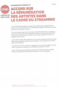 Communiqué de Presse n°15 de la F3C