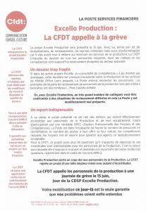 La Poste Services Financiers : la CFDT appelle à la grève
