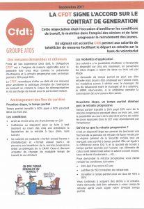 Groupe Atos : la CFDT signe l'accort sur le contrat de génération